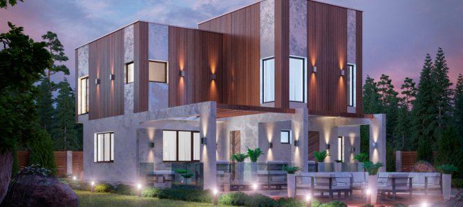 Дом в стиле хай-тек (high-tech). «Куб»
