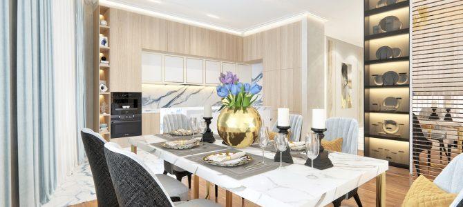 «Бархат». Кухня – столовая – гостиная на 48,6 м2