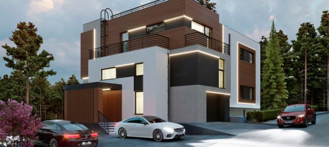 Дом в стиле хай-тек (high-tech). «IQ House»
