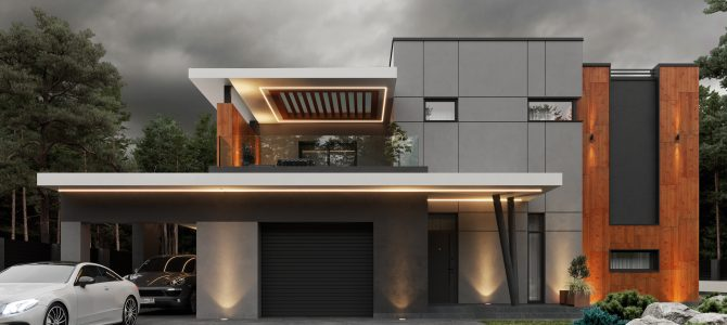 «Pine House». Дом в стиле хай-тек
