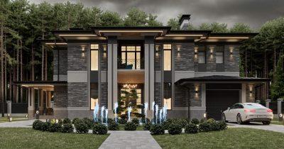 «Grey House 2». Дом в стиле Райта