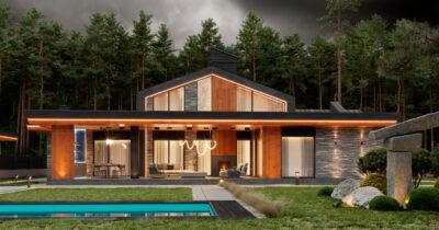 «2 Forest House». Дом в стиле Райта