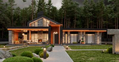 «1 Forest House». Дом в стиле Райта