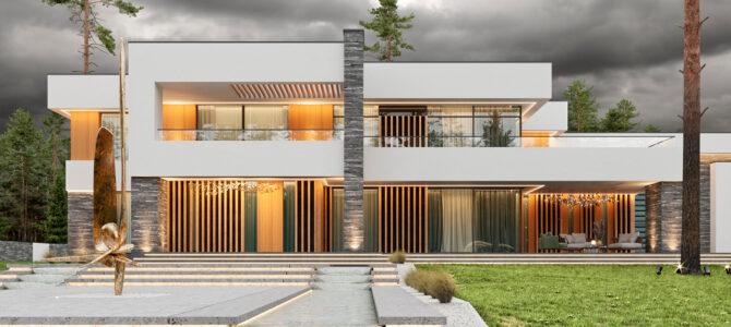 «Zoryno. White». Дом в современном стиле