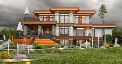 «Brilliant House 1». Дом в стиле Райта
