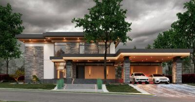 «Alfa House». Дом в стиле Райта