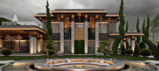 «Armani House DL». Дом в стиле Райта