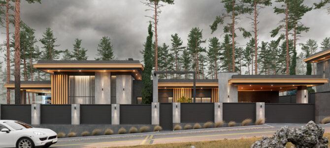«2.3 Cinema House». Дом в стиле Райта